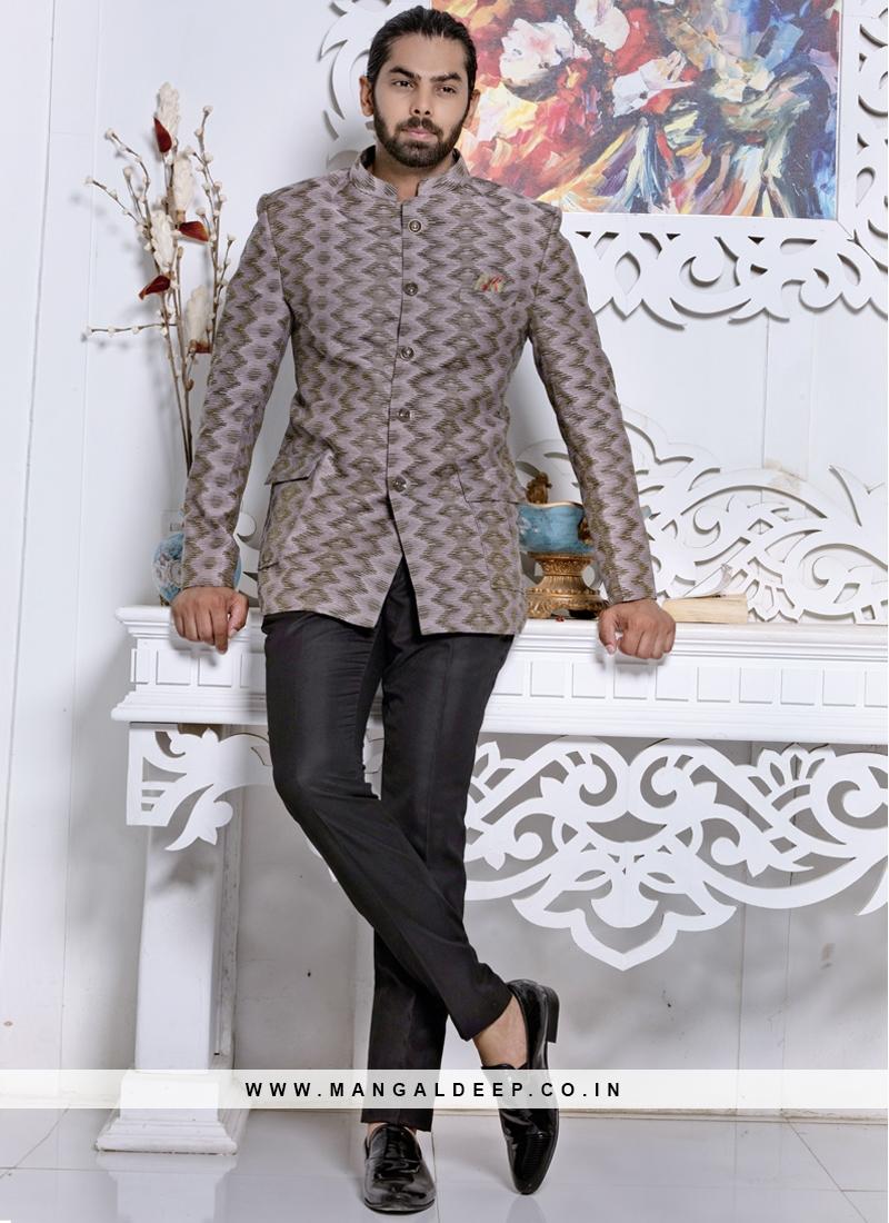 A Perfect Grey Jodhpuri Suit