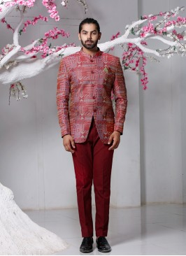 A Perfect Maroon Jodhpuri Suit