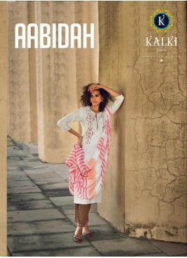 AABIDAH BY KALKI FASHION DESIGNER FANCY EMBROIDERY KURTI COLLECTION