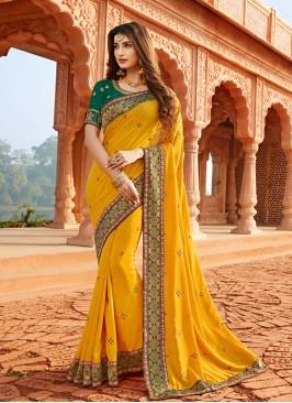 Adorable Mustard Color Silk Saree
