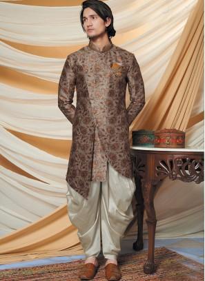 Alluring Beige Indo Western Set