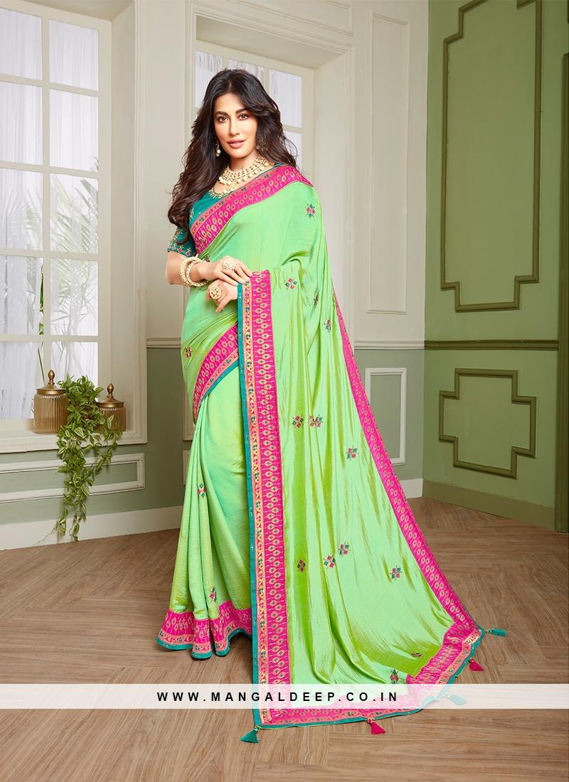 Alluring Green Color Indian Saree