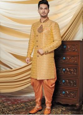 Alluring Mustard Indo Western Set
