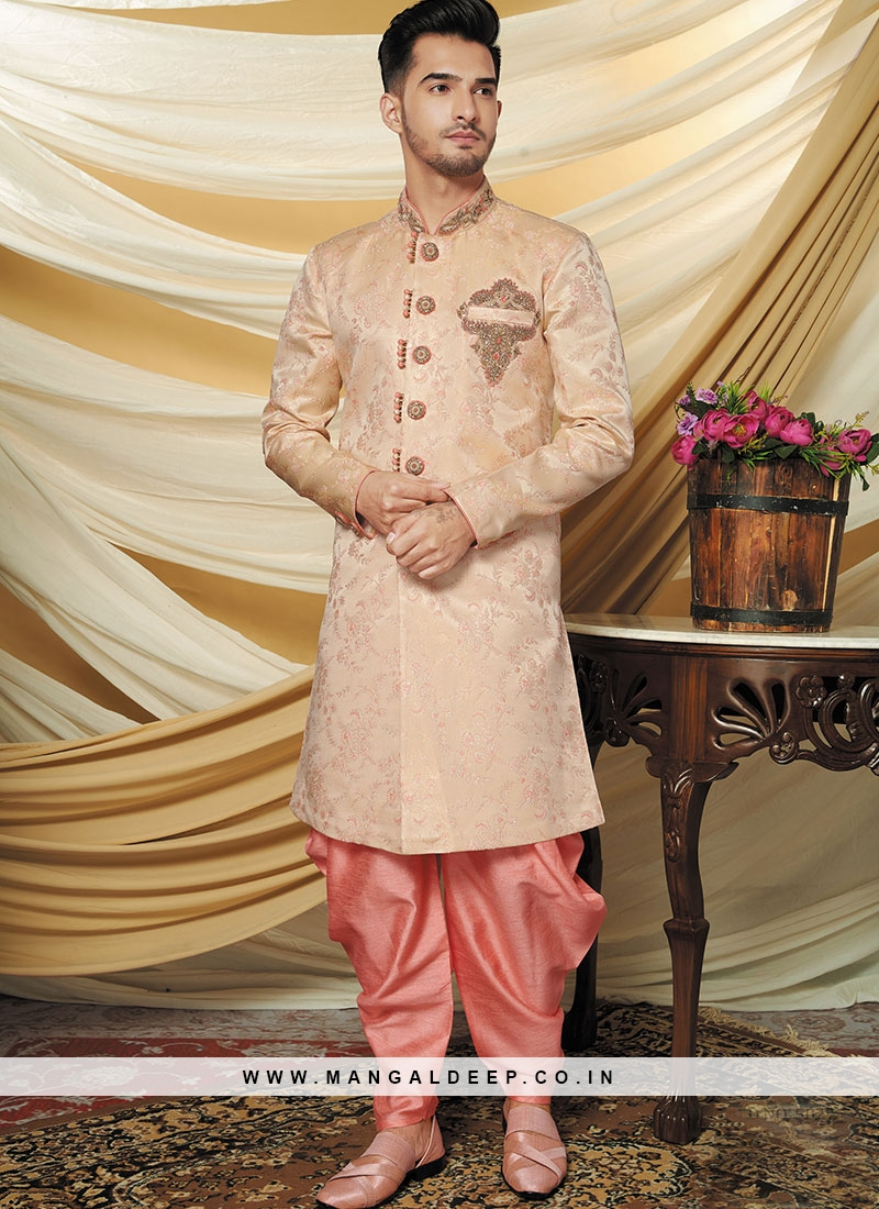 Alluring Pink Party Wear Indo western set