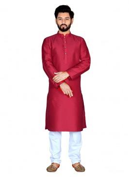 Alluring Red Color Kurta Set