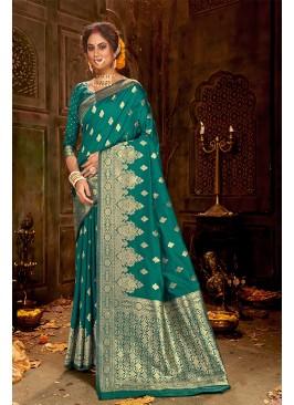 Amazing Green Classic Saree In Silk