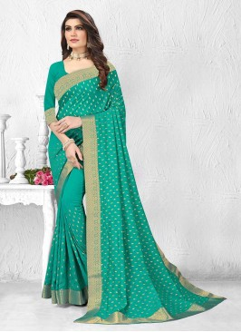 Amazing Green Color Silk Saree