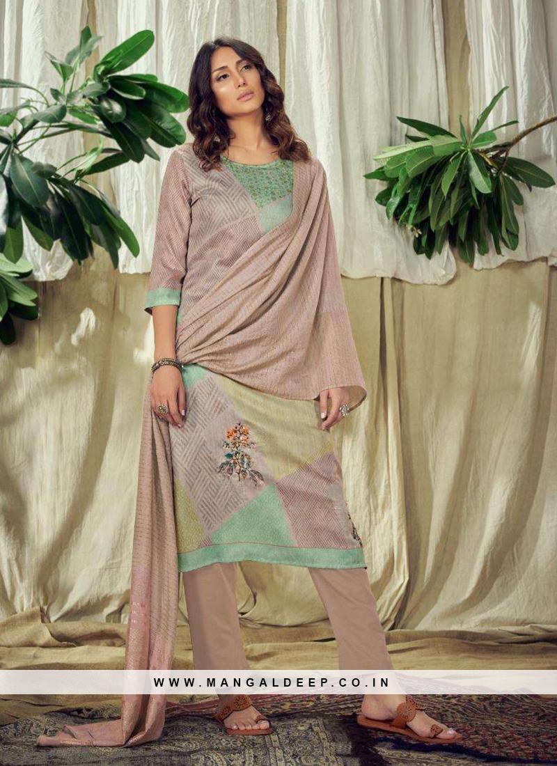 Amazing Multi Color Cotton Silk Readymade Dress