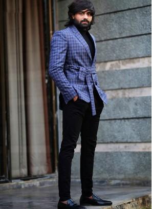 An Azure Blue Blazer