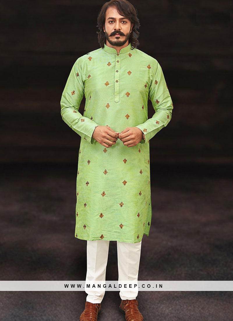 An Imperial Green Kurta Set