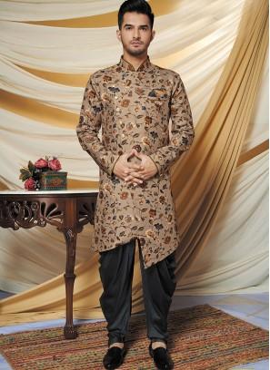 Aristocratic Brown Indo Western Set