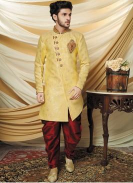 Aristocratic Yellow Indo Western Set