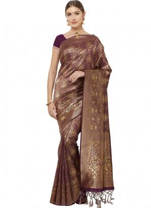 Art Silk Multi Color Party Wear Saree