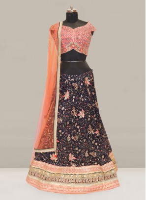 Attractive Blue Color Function Wear Designer Lehenga Choli