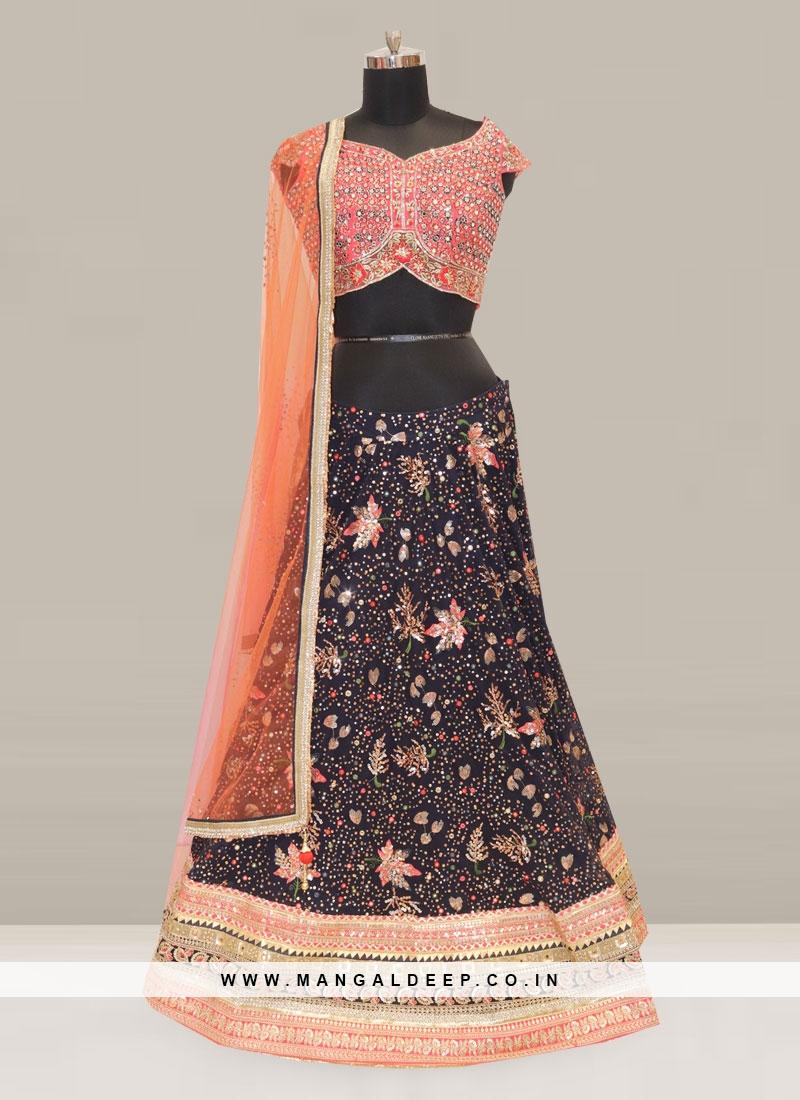 Attractive Blue Color Function Wear Designer Lehenga Choli