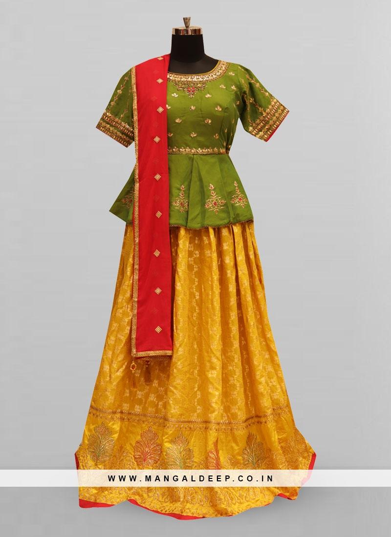 Attractive Mustard Color Party Wear Designer Lehenga Choli