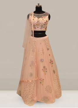 Attractive Pink Color Function Wear Designer Lehenga Choli