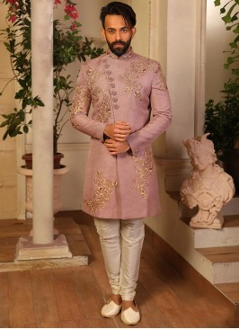 Attractive Pink Color Function Wear Fancy Indo Western Suit