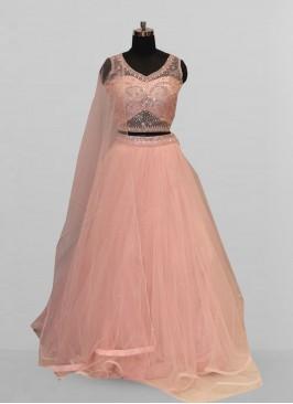 Attractive Pink Color Party Wear Designer Lehenga Choli
