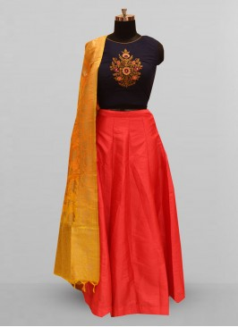 Attractive Red Color Party Wear Designer Lehenga Choli