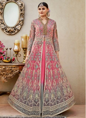 Awesome Pink Floor length anarkali Suit