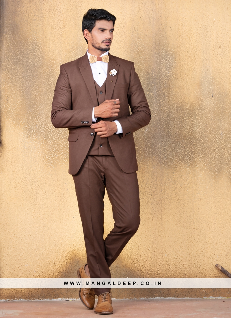 Azure Brown Suit Set