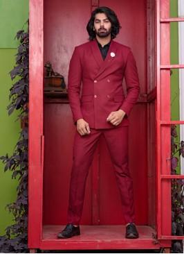 Azure Red Suit Set