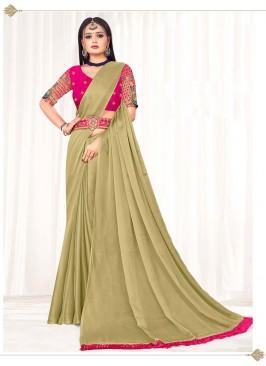 Beige Color Latest design Saree