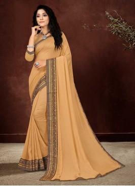 Beige Color Silk Casual Saree