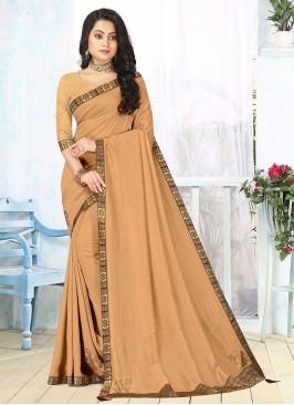 Beige Color Silk New Design Saree