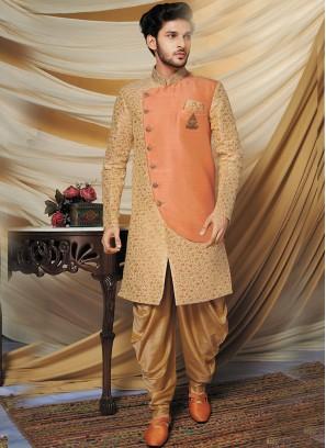 Beige Fawn Indo Western Set