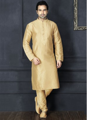Beige Kurta Pajama For Sangeet Function