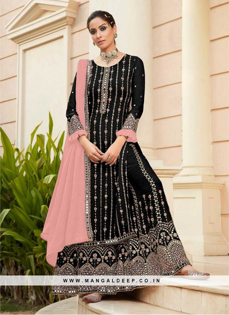 Black Color Georgette New Design Sharara