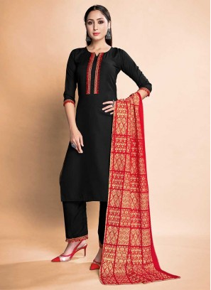 Black Color Rayon Readymade Dresses