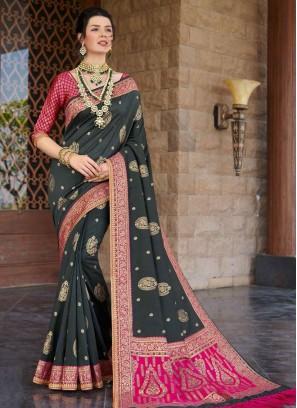 Black Color Silk Exclusive Saree