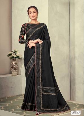 Black Color Silk New Design Saree