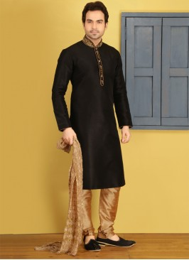 Black Kurta Pajama For Sangeet Function