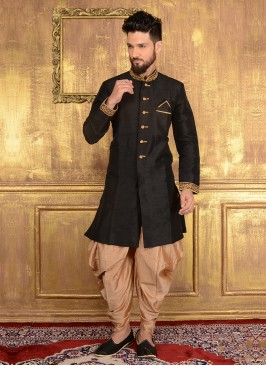Black Men's Patiala Suit