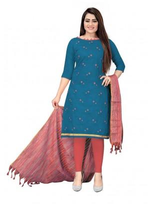 Blue Color Cotton Salwar Suit