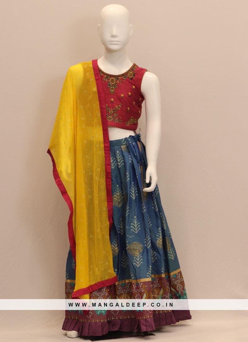Blue Color Function Wear Embroidered Lehenga Choli