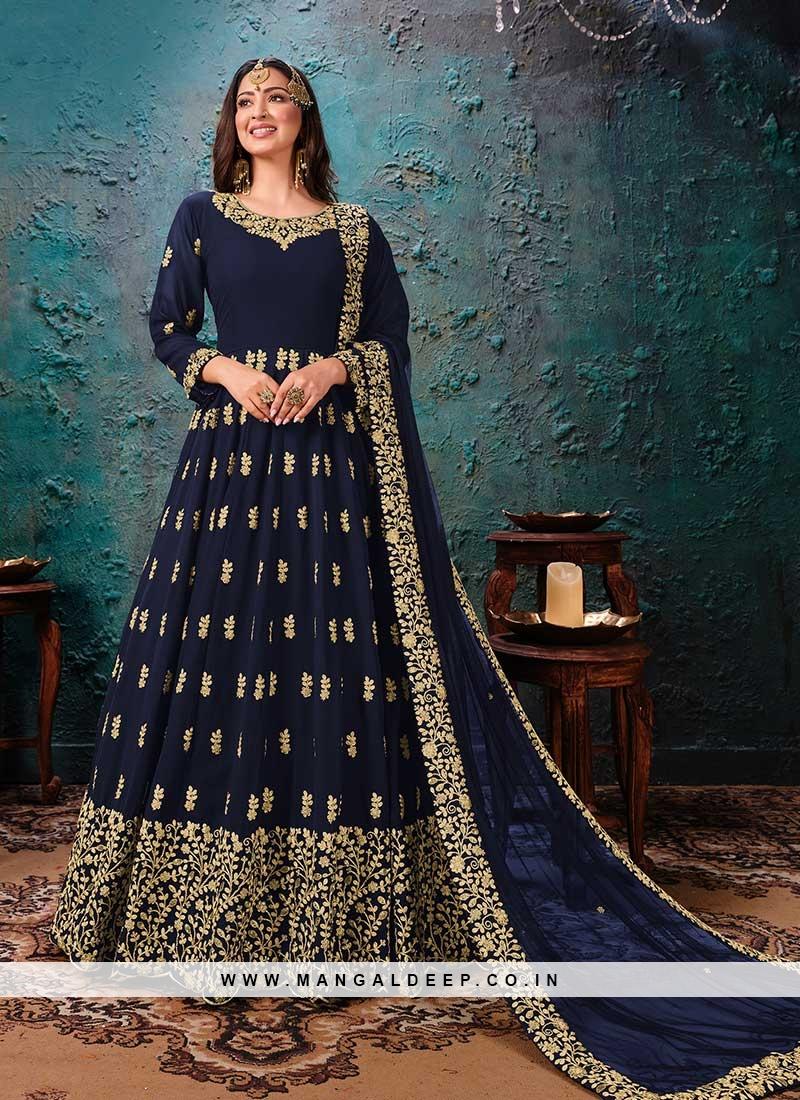 Blue Color Georgette Anarkali