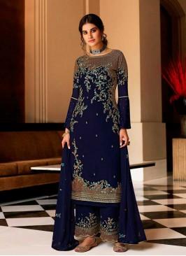 Blue Color Georgette Pakistani Suit