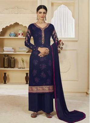 Blue Color Georgette Salwar Kameez