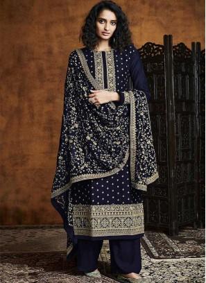 Blue Color Georgette Salwar Suit