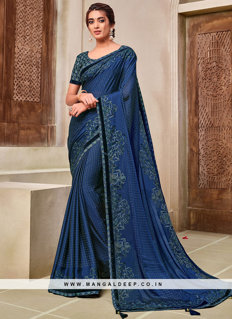 Blue Color New Saree Collection