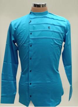 Blue Color Rayon Short Kurta