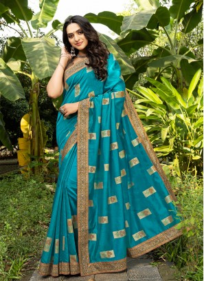 Blue Color Silk Classic Saree