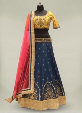 Blue Color Silk Readymade Lehenga Choli