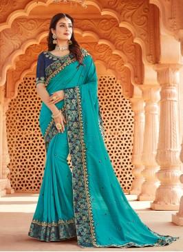 Blue Color Silk Wedding Saree