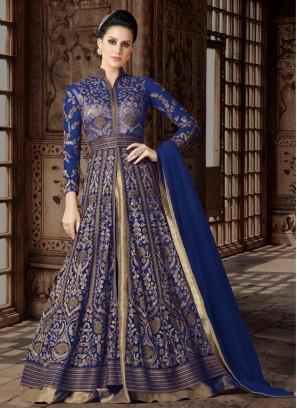 Blue designer Floor length anarkali Suit